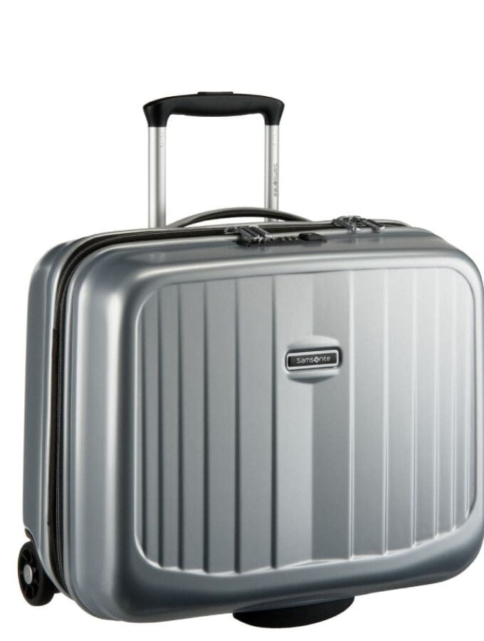 Ultimocabin Rolling Tote Silver samsonite business trolley