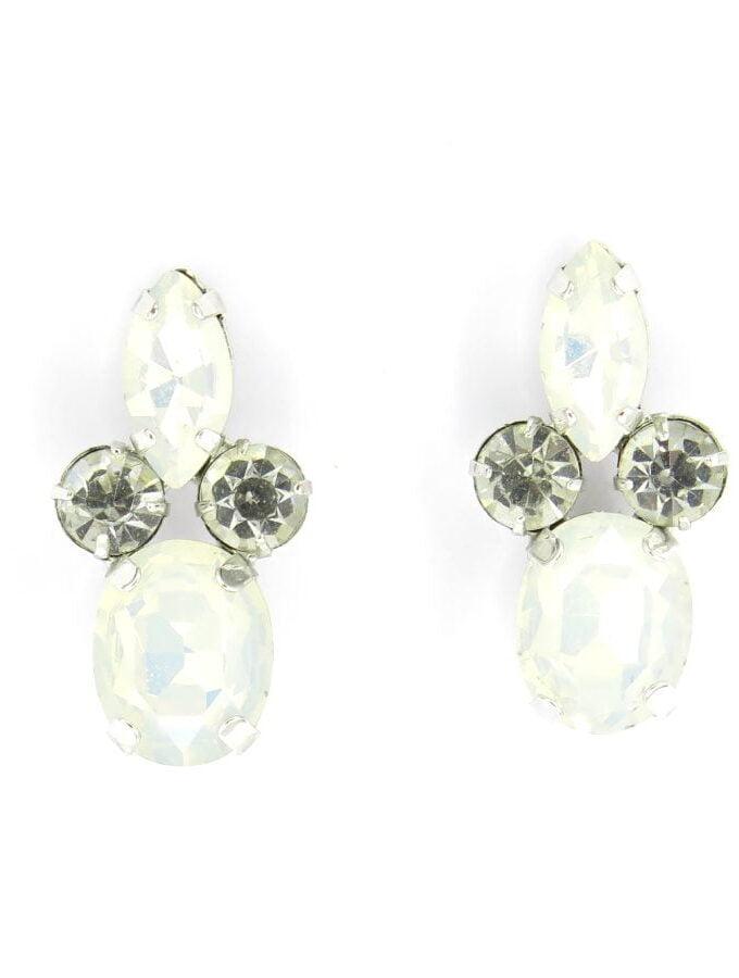Oorbellen witte stenen