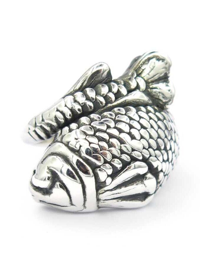 Ring zilver rondom vis