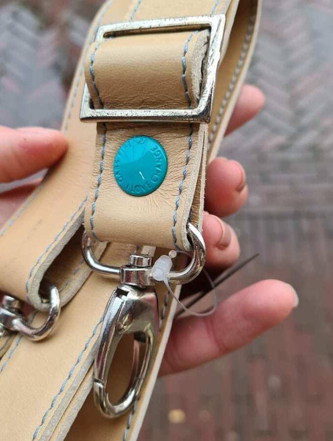 gabs schouderband leer brown rope bruin