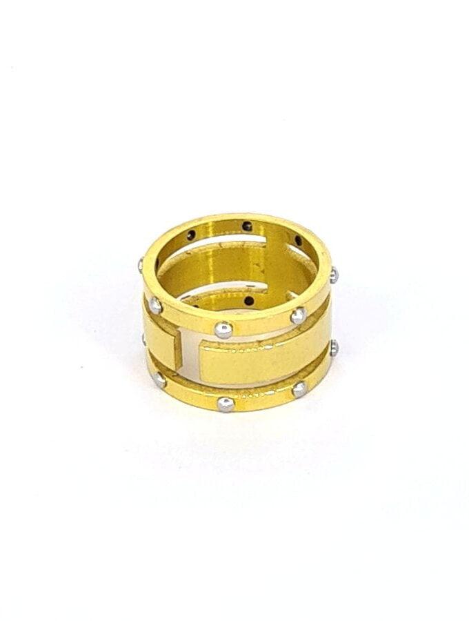 Gouden ring studs zilver