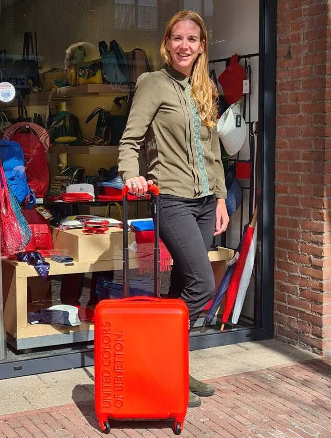 handbagage koffertje oranje