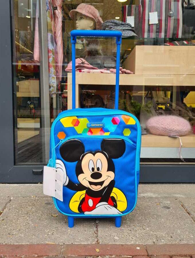Mickey Samsonite blauw koffer
