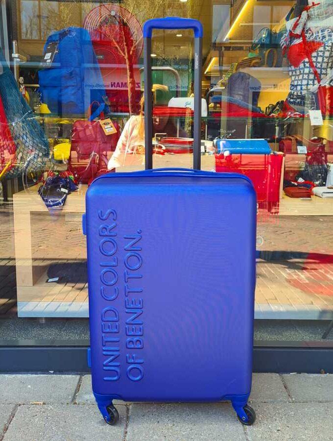 koffer medium blauw benetton