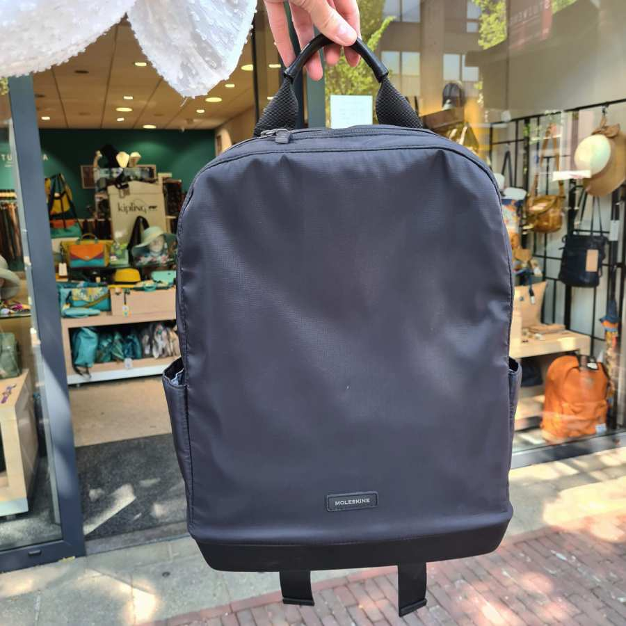 Moleskine rugzak zwart nylon met laptopvak