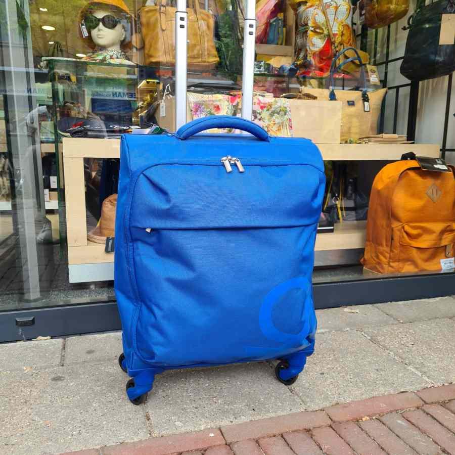 Benetton Blow Trolley 55cm zachte koffer blauw