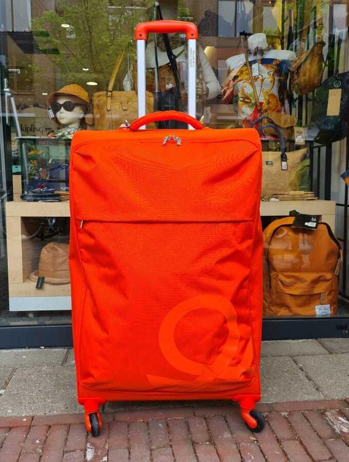 Benetton Blow Trolley 75cm zachte koffer oranje