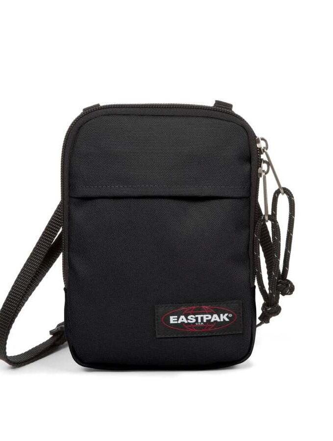 eastpak buddy plat schoudertasje black zwart klein